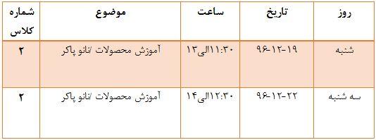 روند برگزاری کلاسهای نانو پاکر در هفته آتی...